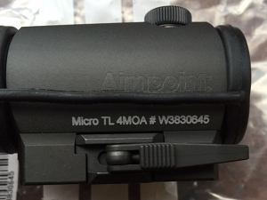 Aimpoint Micro TL-1 4MOA B&T Throw Lever