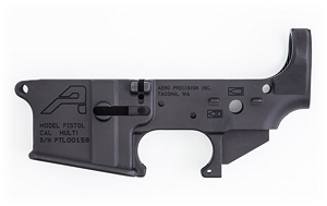 Aero Precision AR15 Stripped Lower Receiver PISTOL marked Gen 2 Anodized Black