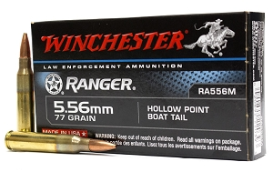 Winchester LE 5.56mm 77 gr Hollow Point Boat Tail Ranger