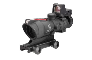 Trijicon 4x32 ACOG Dual Illuminated Red Chevron .223 Reticle w/ Thumbscrew Mount & LED 3.25 MOA Red Dot RMR Type 2