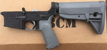 BCM Lower W/Gray GUNFIGHTER Grip