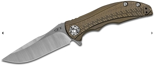 Zero Tolerance RJ Martin 0609 Flipper Knife Bronze Ti (3.4