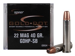SPEER Gold Dot 22 Magnum Personal Protection