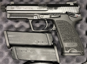 HK USP9 Tactical V1 3 15rd Mags Adj NS