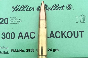 S&B 300 Blackout 124gr FMJ 1,000rds