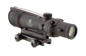 Trijicon ACOG 3.5x35 Scope, Dual Illuminated Red Crosshair 300 BLK Reticle w/ TA51 Mount