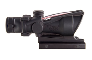 Trijicon 4x32 ACOG, Dual Illuminated Red Chevron .223 W/TA51 MOUNT