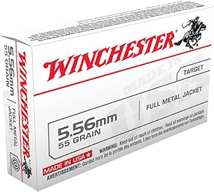 Winchester Rifle Ammunition Q3131 5.56mm NATO Full Metal Jacket 55GR