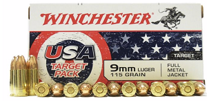 Winchester USA Target Pack 9mm 115gr FMJ 50rd Box