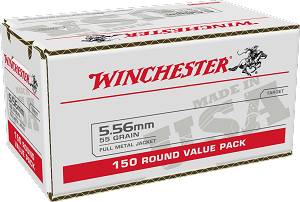 Winchester 5.56 55gr FMJ 150rd Value Pack