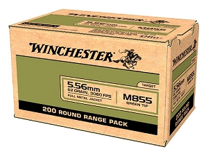 Winchester M855 200rd  Loose Box 5.56mm 62gr Green Tip Lake City Ammo