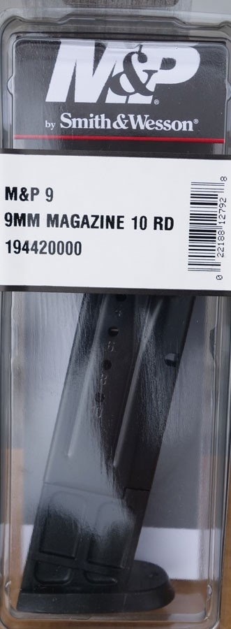 S&W M&P 9mm 10rd Magazine