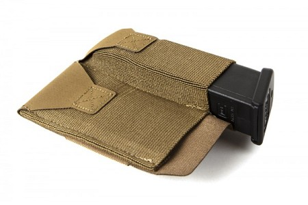 Belt Mounted Ten-Speed Double Magazine Pouch with Adjustable Belt Loop