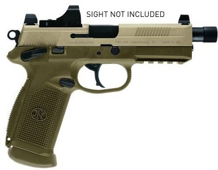 FN FNX-45 Tactical FDE three 15rd Mags