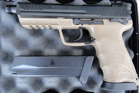 HK HK45 TAN Tactical (DA/SA) W/Factory Night Sights