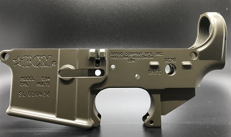 BCM STRIPPED Lower Receiver (Cerakoted Magpul OD)