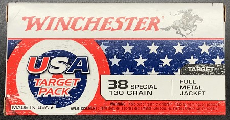 Winchester USA Target Pack 38 Special 130gr FMJ 50rd Box