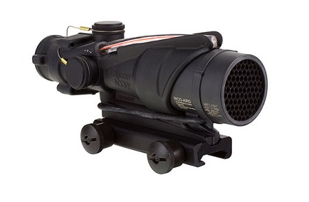 Trijicon ACOG 4x32 BAC (RCO) Red Chevron Reticle USMC's A4 W/ Thumbscrew Mount