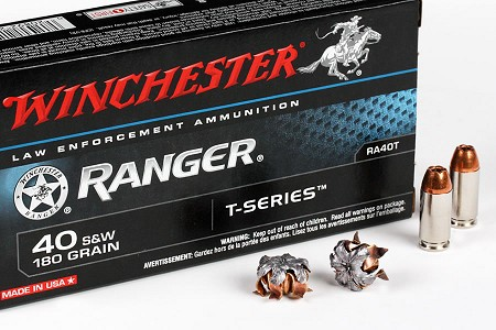 Winchester Ranger T-Series 40 S&W 180gr Jacketed Hollow Point Ammo - Box of 50